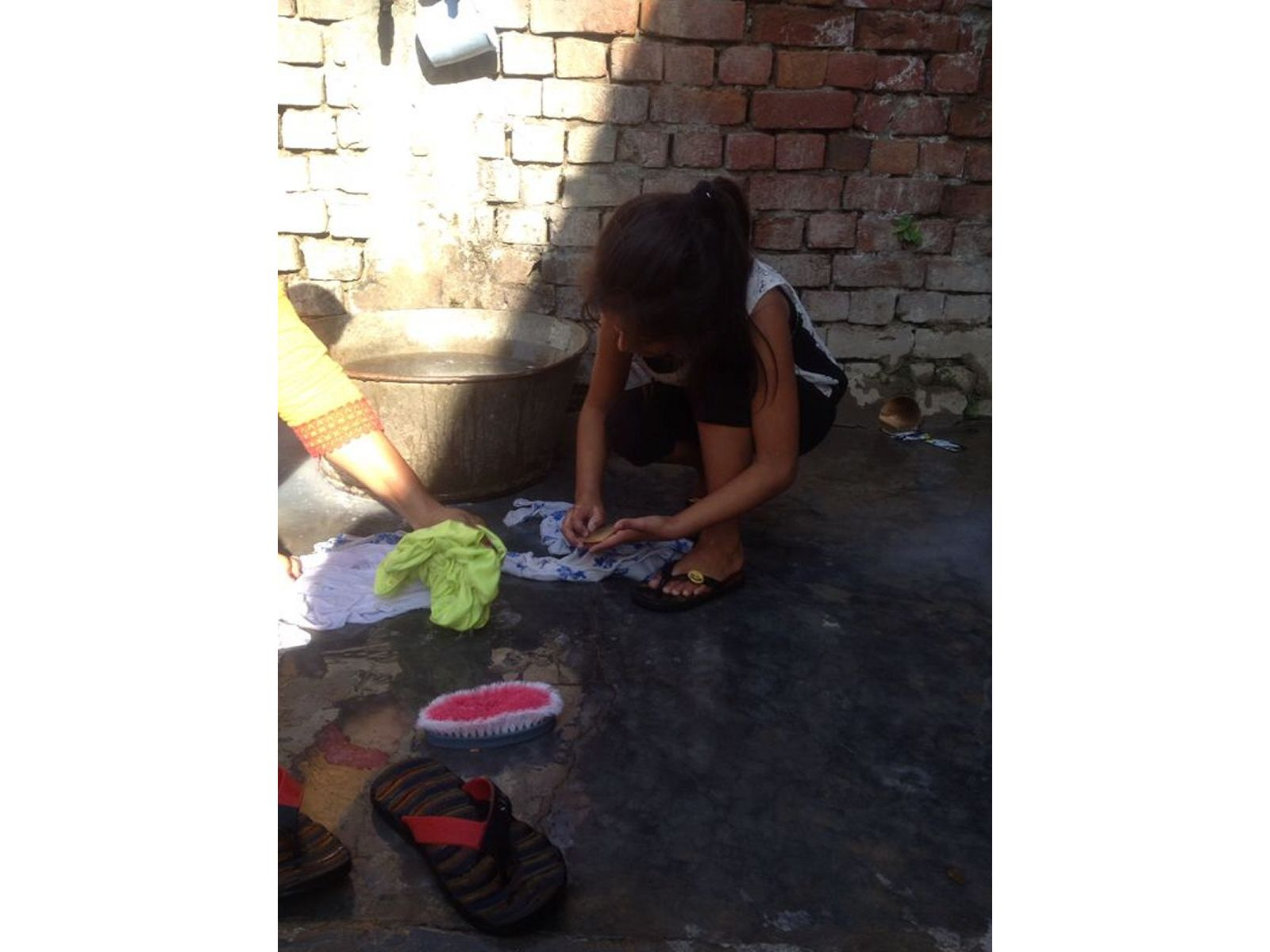 doing-in-laundary-in-village