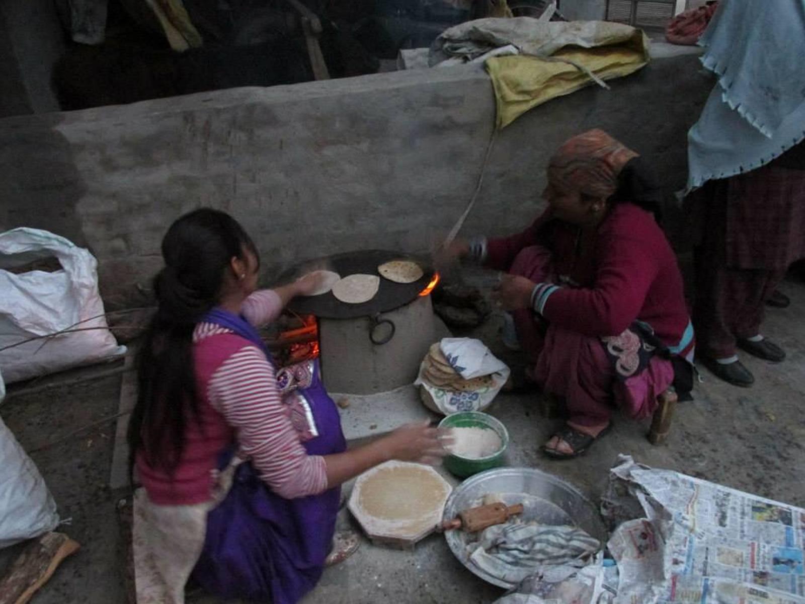 making-bread-in-village